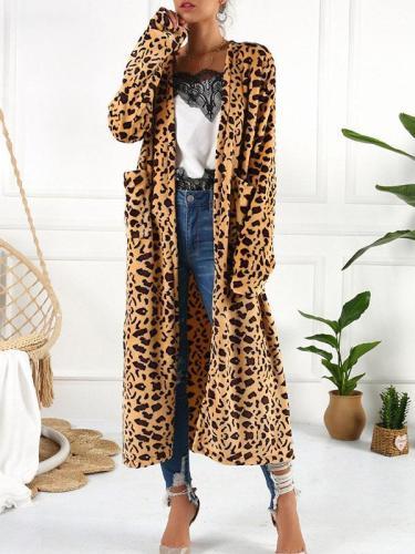 Chic printed women long cardigans coats