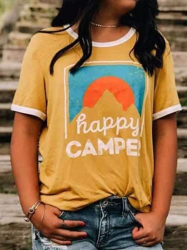 Yellow Printed Women Fashion T-shirts