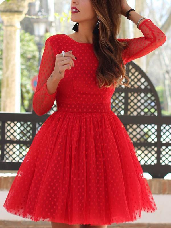 Sexy lace dolka pot backless skater eveing dresses