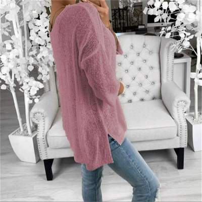 Fashion Knit V neck Long sleeve Sweaters