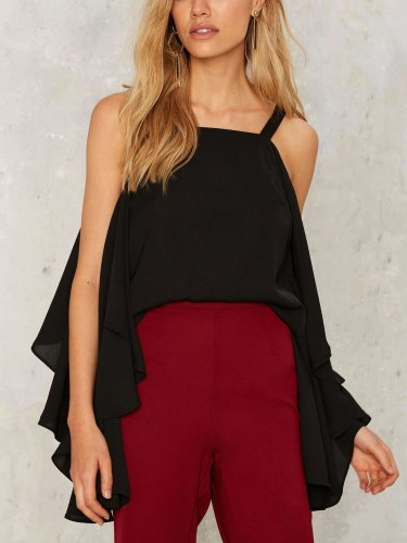 Summer Vest Off shoulder Chiffon T-Shirts