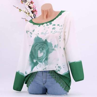 Floral Long sleeve Lace T-Shirts
