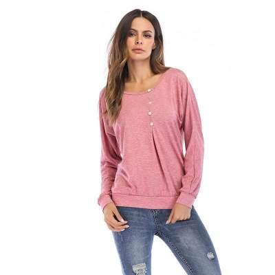 Fashion Loose Round neck Long sleeve T-Shirts