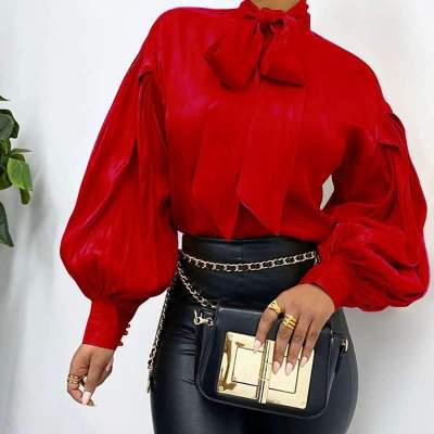 Pure Lacing Puff sleeve Blouse