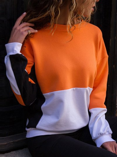 Round Neck Assorted Colors Simier Sweatshirts