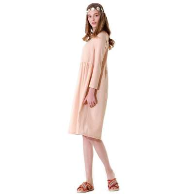 Loose Casual Pure Round neck Shift Dresses