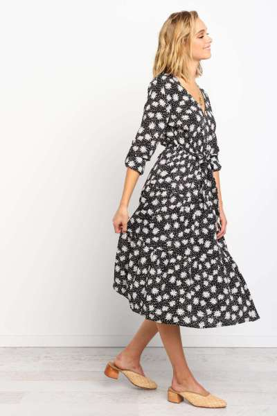 Fashion V neck Half sleeve Lacing Maxi Dresses