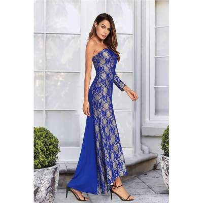 Sexy Lace Vent Single-shoulder Evening Dresses
