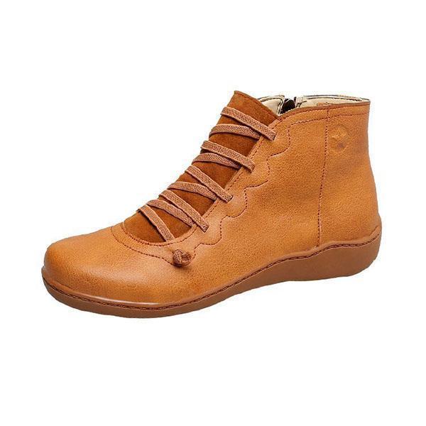 High help Women PU round Toe casual shoes