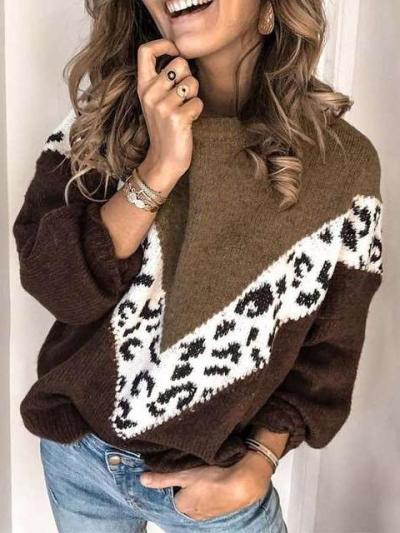 Fashion Knit Plus Long sleeve Sweaters