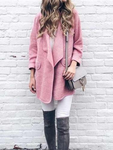 Fashion Lapel Long sleeve Cardigan Coats