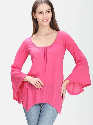 Pure Irregular Batwing sleeve T-Shirts