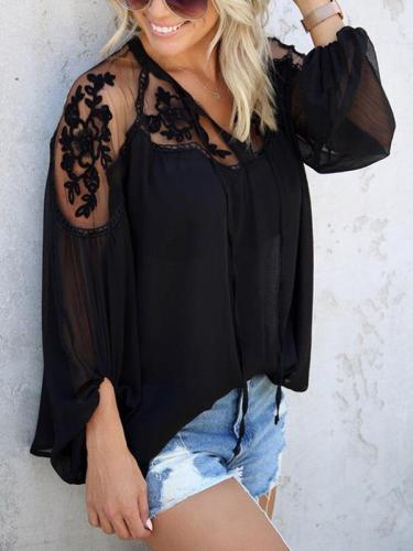 Large Loose Slim Chiffon Chic Blouses for women