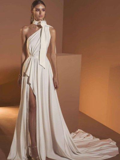 Pure Halter Single shoulder Evening Dresses