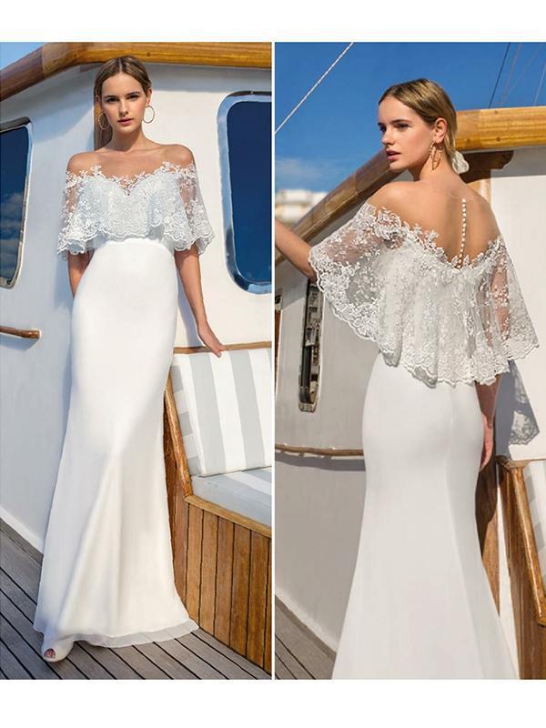 Sexy lace shawl  slim Long dress evening dresses