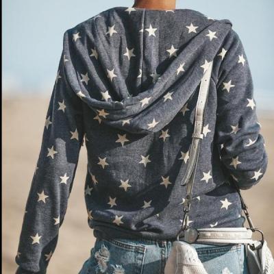 Fashion Hooded Fleece Zipper Up Sweatshirt