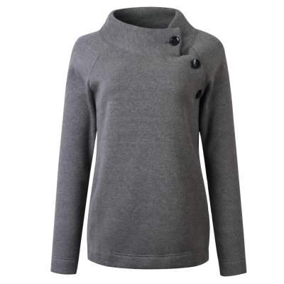 Fashion Stand collar Long sleeve Fastener  Sweatshirts