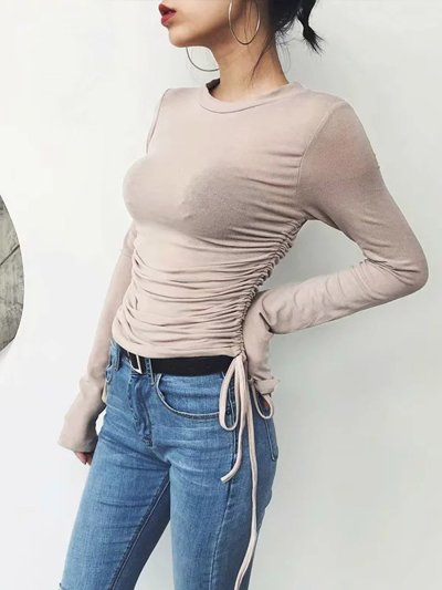More Colors Woman Fashion Chic Long Sleeve T-shirts
