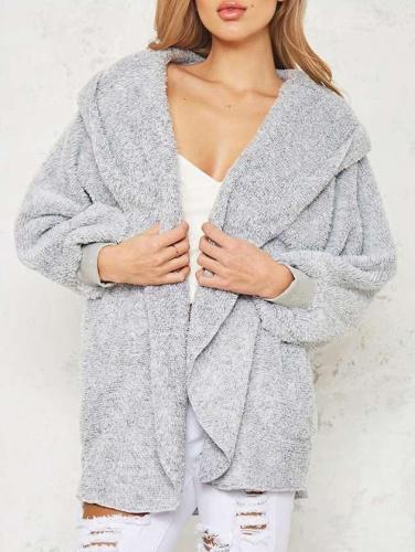 Fashion Loose Plush Long sleeve Hoodies Coats