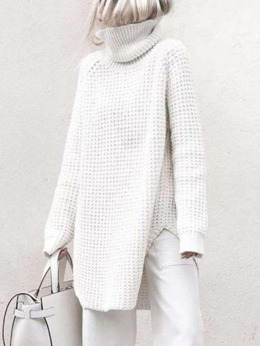 Pure Knit High collar Vent Sweaters