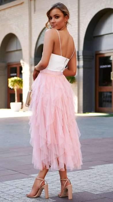 Fashion Pure Grenadine Bubble Skirts