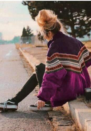 Modern A Lapel Stripe Women's Cotton Jacket
