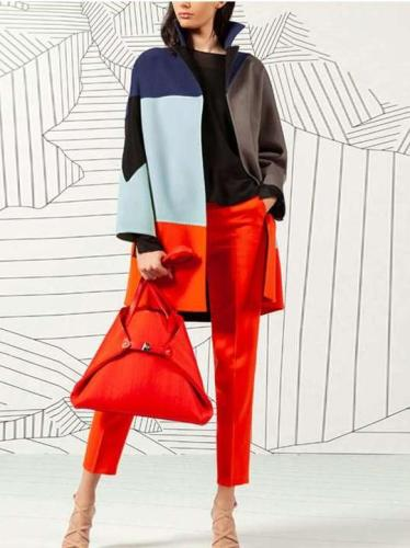 Fashion Gored Long sleeve Lapel Knit Coats
