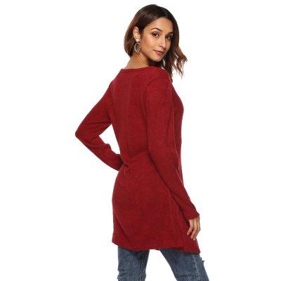 Women Irregular Slit Sexy Long T-Shirts