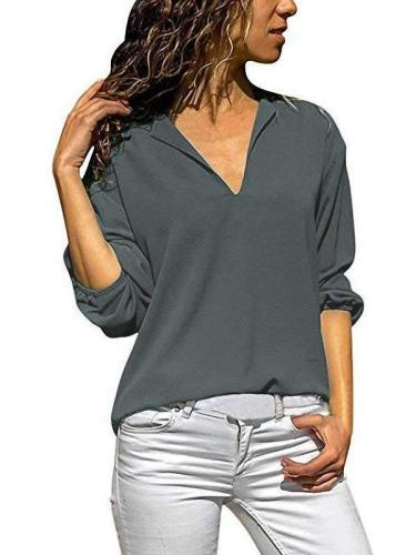 Casual Loose V neck T-Shirts