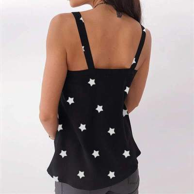 Fashion Casual Print V neck Vests