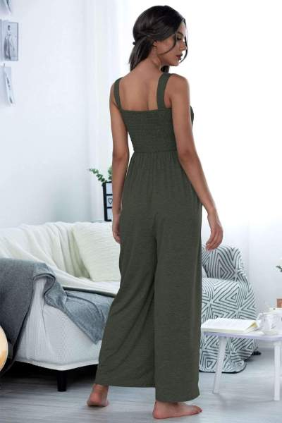 Casual Loose Pure Vest Jumpsuits