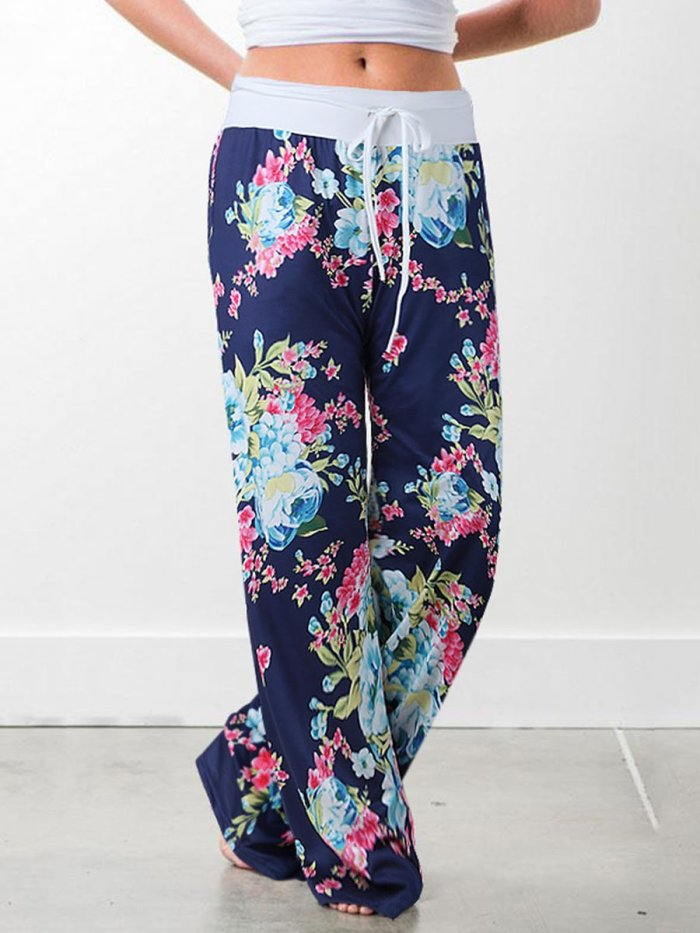 Casual Camouflage Print trousers