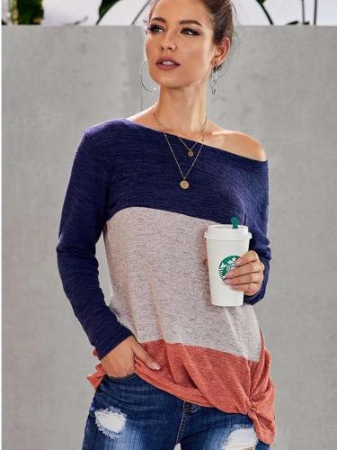 Fashion Long sleeve Knot T-Shirts