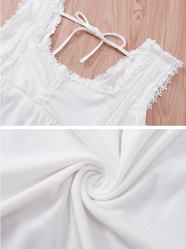 Casual loose solid color halter vest top