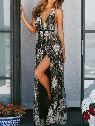 Sexy v-neck strapless backless women long evening dresses