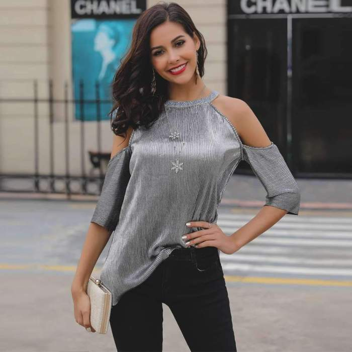 Sexy Off shoulder Pure T-Shirts