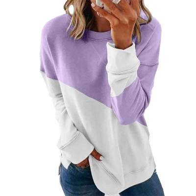 Fashion Gored Round neck Long sleeve T-Shirts