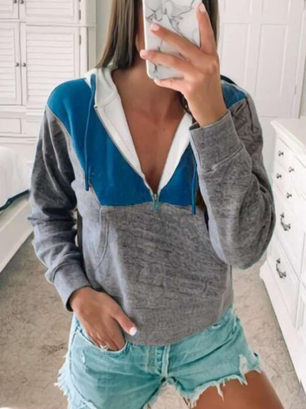 Fashion Gored Pocket Hoodies Sweatshirts