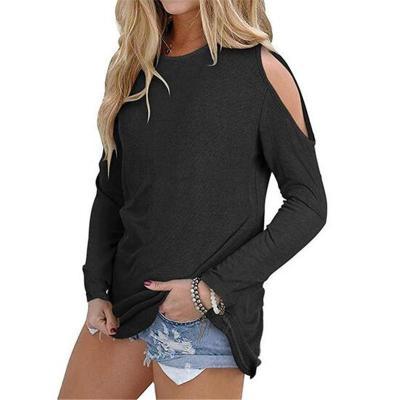 Sexy Shoulder Off Plain Multi-Color Long Sleeve Blouse