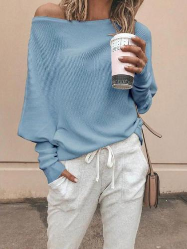 Sexy Off Shoulder Solid Top Sweater