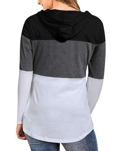 Fashion Gored Long sleeve Hoodies & Sweatshirts
