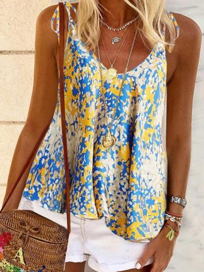 Summer floral halter vests for women
