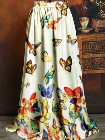 Fashion Print Skirt Skater Dresses