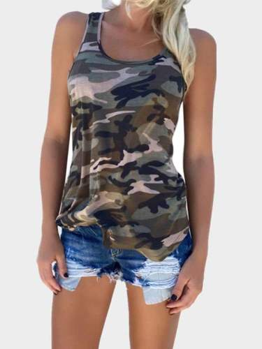 Fashion Camouflage Sleeveless Vests