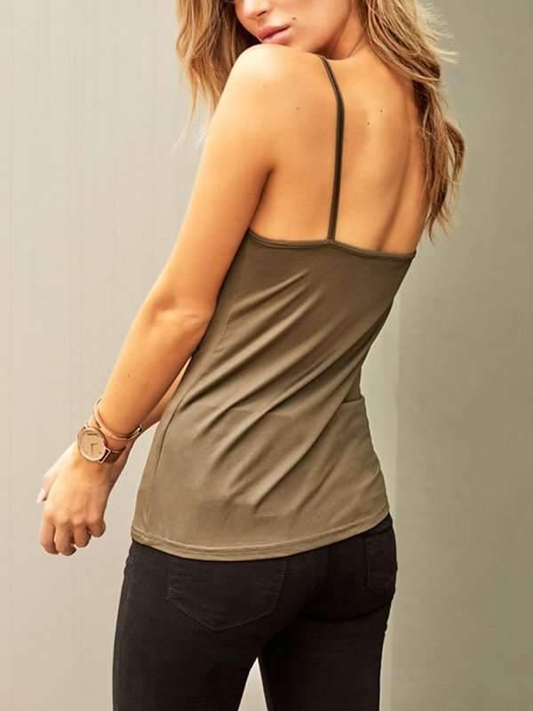 Sexy Lace Plain Vests