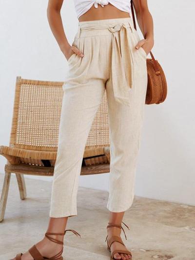 Women Fashion Casual Plain Pants