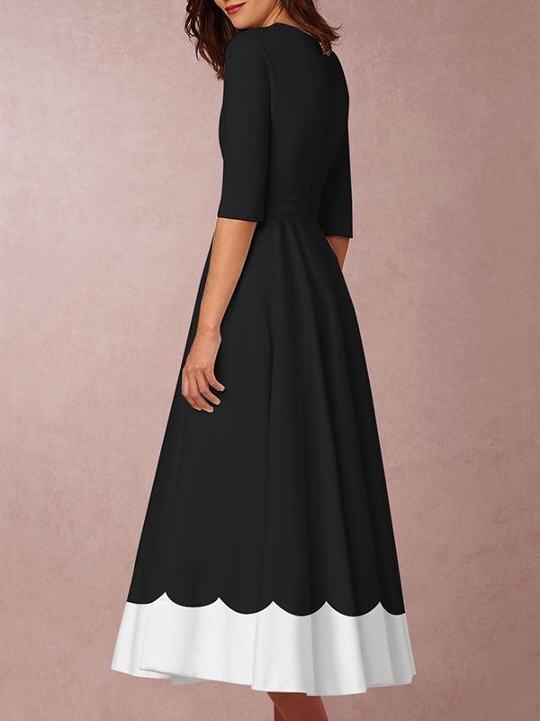 Deep V Neck Date Elegant Maxi Dress