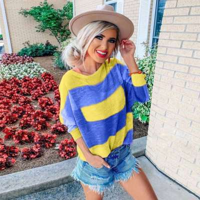 Fashion Stripe Long sleeve Round neck T-Shirts