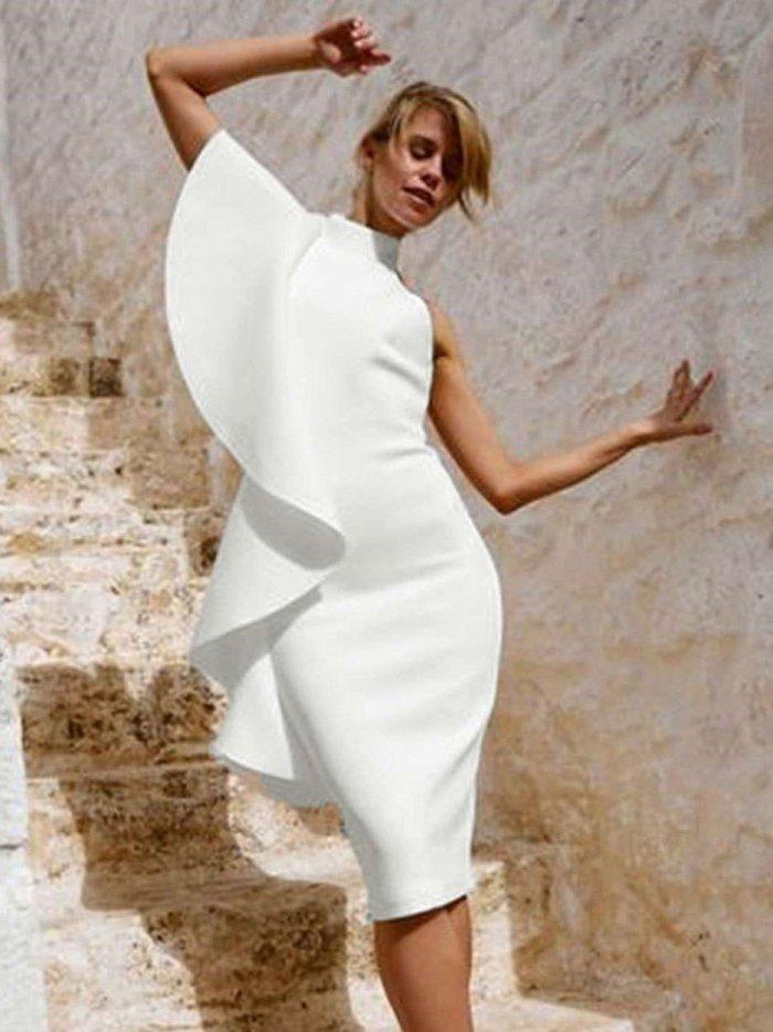 Sexy Sleeveless Falbala Bodycon Dresses