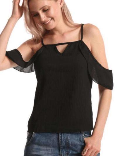 Fashion Pure Vest Off shoulder T-Shirts